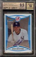 2008 Bowman Chrome Jesus Montero Rookie RC Autograph BGS 9.5 Gem Mint 10 Auto 04
