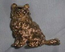 Trifari Persian Himalayan Cat Gold Plated Vintage Brooch