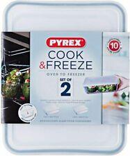 Set of Lunch Boxes PYREX C&f (2 Pcs) Transparent Borosilicate Glass 22 X 17 Cm/2