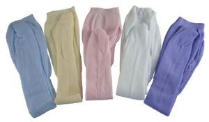 5 Pair of Tights Pink White Cream Lavender Blue for American Girl Doll Clothes