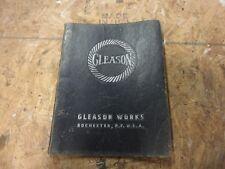 Gleason 116 Hypoid Rougher Gear Generator Operations Manual