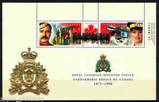 "Canada - ""HORSES ~ ROYAL CANADIAN MOUNTED POLICE"" Embossed + Gold Foil MS 1998"