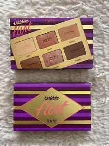 NEW Tarte Tartelette Flirt Eyeshadow Palette Eye Makeup Matte Metallic Mirror