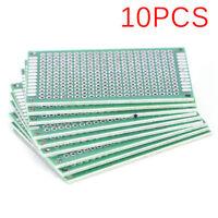 10PCS Double Side 4x6cm PCB Strip Board Printed Circuit Prototype Track NiHC