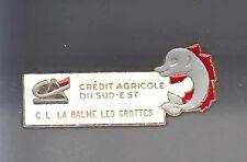 RARE PINS PIN'S .. BANQUE BANK CA CREDIT AGRICOLE BALME GROTTES SPELEOLOGIE ~AT