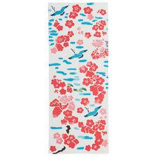 Crane and Plum Japanese Cotton Tenugui