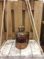 Mensola comodino vintage in legno massello modello shabby altalena corde in Juta