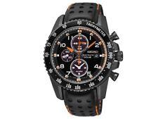 Seiko SSC273P9 Sportura Solar Chronograph Black Leather Strap Watch Solar Men