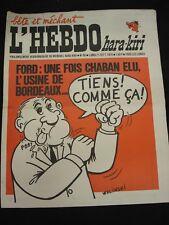 L'HEBDO HARA-KIRI n°86- 21/09/1970