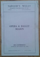 Die Fledermaus programme Sadler's Wells Opera & Ballet Season 16th Dec 1952