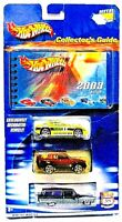 2003 Collector's Guide Hot Wheels 3 Car Set NEW Sealed.