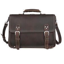 """hommes cuir véritable entreprise mallette 15 """"Laptop Case sac à dos sacs d'école"""