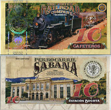 EL CLUB DE LA MONEDA COFFEE RAILROAD 10 GAF 2017 SABANA 1889 UNC
