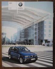 BMW X3 Orig 2003 Reino Unido MKT prestigio folleto de ventas con 102 páginas - 2.5i 3.0i
