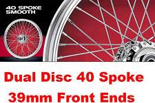 """21"""" Front Wheel Landmark Stainless 40 Spoke USA Made Harley Sportster 2000-2007"""