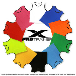 SPORTS soccer football rugby TRAINING BIBS mesh 4 SIZES - New