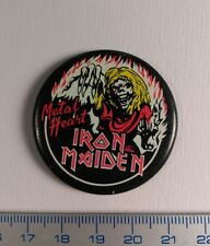 Pin Badge UK Music.HEAVY METAL IRON MAIDEN Rare Vintage metal button.