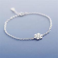 New Fashion Charm Women Girl Snowflake Shape Bangle Wrap Chain Bracelet UF9