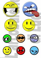 10 ADESIVI AUTO MOTO TUNING FACCINE SMILES EMOTICON