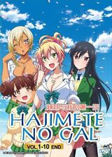 DVD Anime Hajimete No Gal My First Girlfriend Is a Gal Series (1-10) English Dub