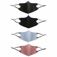 4pcs Unisex Reusable Face Mouth Cover Cotton Mask Breathable Shield Washable Set