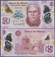 MEXICO P123A***50 PESOS POLYMER***SERIE U***ND 12/07/2016***UNC GEM***USA SELLER