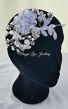 Bridal Postiche, coiffe, bandeau, d'eau douce perles, Swarovski, dentelle, UK