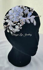 Bridal hairpiece, headpiece, headband, Freshwater pearls, Swarovski, lace, uk