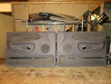 98-01 Dodge Ram 1500 2500 3500 Door Panel Left And Right LIGHT Grey OEM READ