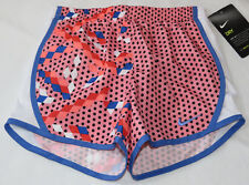 Nike Dri Fit 4 XS Youth girls active Running shorts 3MB833-A4E Bright Melon^^