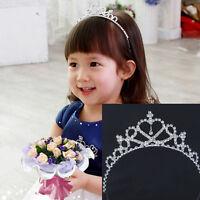 Girl Princess Prom Crown Rhinestone Crystal Tiara Hair Hoop Kids Bridal Headband