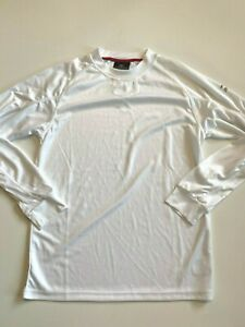 Mizuno Shirt Men's Small White Activewear Long Sleeve Drylite Mock Neck