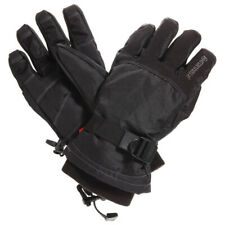 MANZELLA DAKOTA ski Gloves Men LARGE Black Waterproof HydroBlok Warmest Fleece