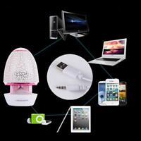 Mini Portable Travel USB Bass Speaker for Tablet PC MP3 Mobile Phone Pink