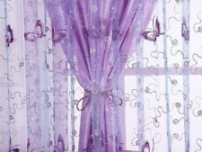 Schmetterling Stickerei Tüll Voile Tür Fenster Vorhänge Drapiert Durchsichtig