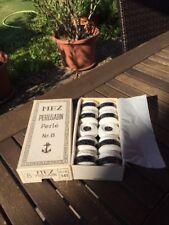MEZ Perlgarn 8 Farbe 402.   Weiß 10er Pack