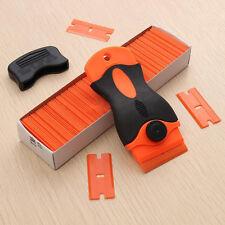 Razor Blade Scraper Removal Tool +100 1.5'' Plastic Double Edged Blades Hand Set