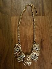 Women Necklace Gold Rhinestones New Never Worn