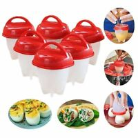 Egg Cooker Hard Boiled Eggs without Shell Eggies Silicone Cups ( 6 pcs )