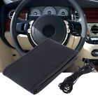 DIY Car Truck Leather Steering Wheel Cover With Needles and Black Thread