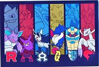 Pokemon center JAPAN - Team Rocket rainbow Pokemon - official Post Card