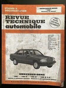 Revue Technique Automobile RTA du 02/1992; Mercedes-Benz 190-190E-190D-190D 2.5
