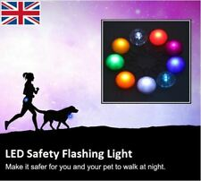 Waterproof LED Pet Cat Dog Collar Luminous Night Safety Clip Flashing Pendant UK