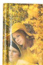 Retro 70s Mod MCM Vintage Photo Album with Golden and yellow romantic scene