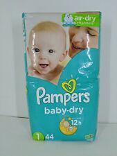 Pampers Baby-Dry Diapers, Size 1, 44 Count, 8-14 Pounds, Up To 12 Hours