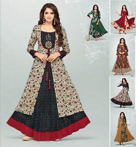 Women Casual Indian  Cotton Long Kurti Tunic Kurta Tank Top Shirt Dress K260