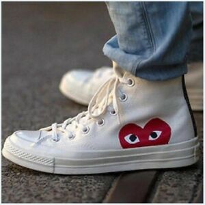 Converse Chuck PLAY Taylor All-Star 70s White Color Comme des Garcons High Tops