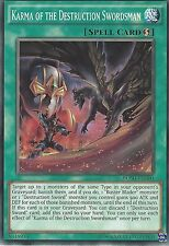 YU-GI-OH CARD: KARMA OF THE DESTRUCTION SWORDSMAN - BOSH-EN060
