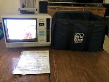 1989 Panasonic AG-500R VHS Player Monitor/Player Combo w/ Bag Vintage Works!