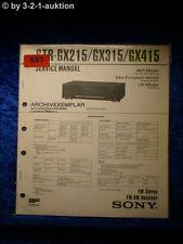 Sony Service Manual STR GX215 / GX315 / GX415 Receiver (#0551)